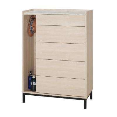 文創集 菲莉 現代2.7尺五斗櫃/收納櫃-80x40x120cm免組