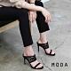MODA高跟鞋 正韓蕾絲設計露趾高跟涼鞋(黑色) product thumbnail 1