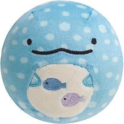 鯨鯊先生微笑的臉系列丸子QQ掌心公仔。微笑鯨鯊先生 San-X