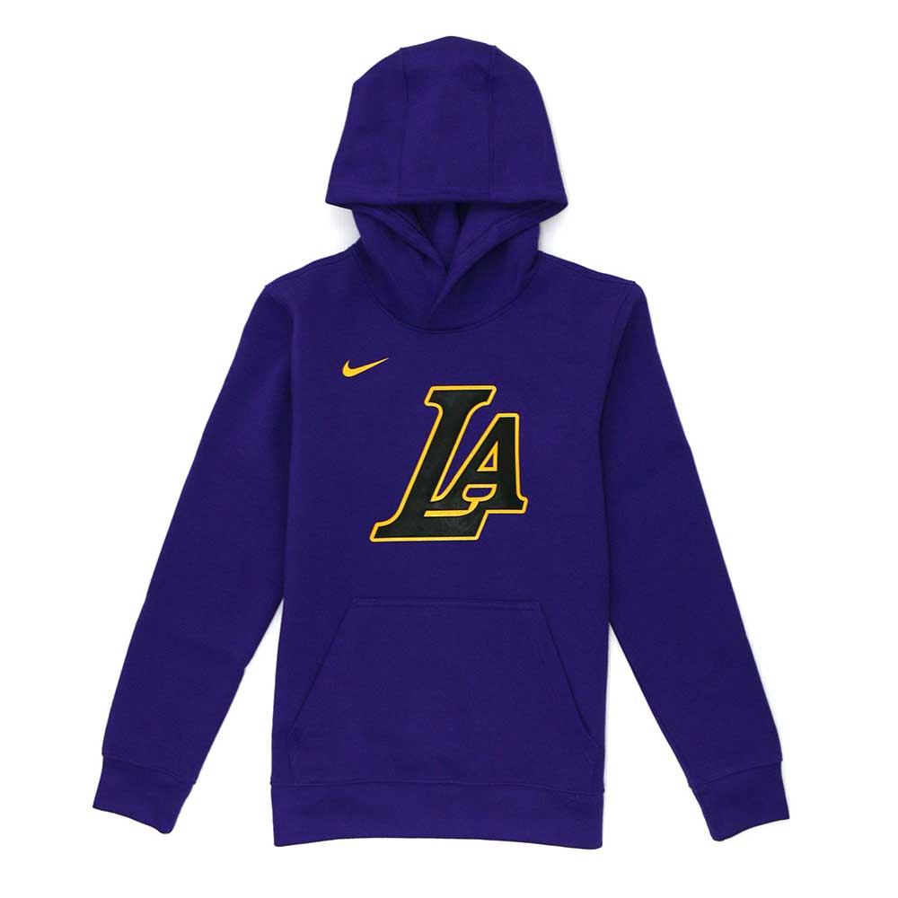 NIKE 青少年 連帽T恤 城市版 湖人隊-WZ2B7BAZQ-LAK