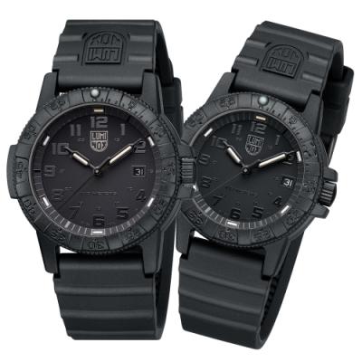 LUMINOX 雷明時SEA TURTLE 0320海龜系列對錶-純黑 39mm/44mm