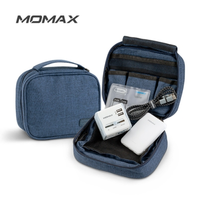 MOMAX 1-World 手提3C 收納包(SR5)-藍