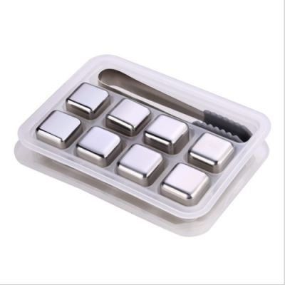 PUSH!餐具用品304不鏽鋼冰塊金屬速凍冰粒飲料冰鎮神器D190