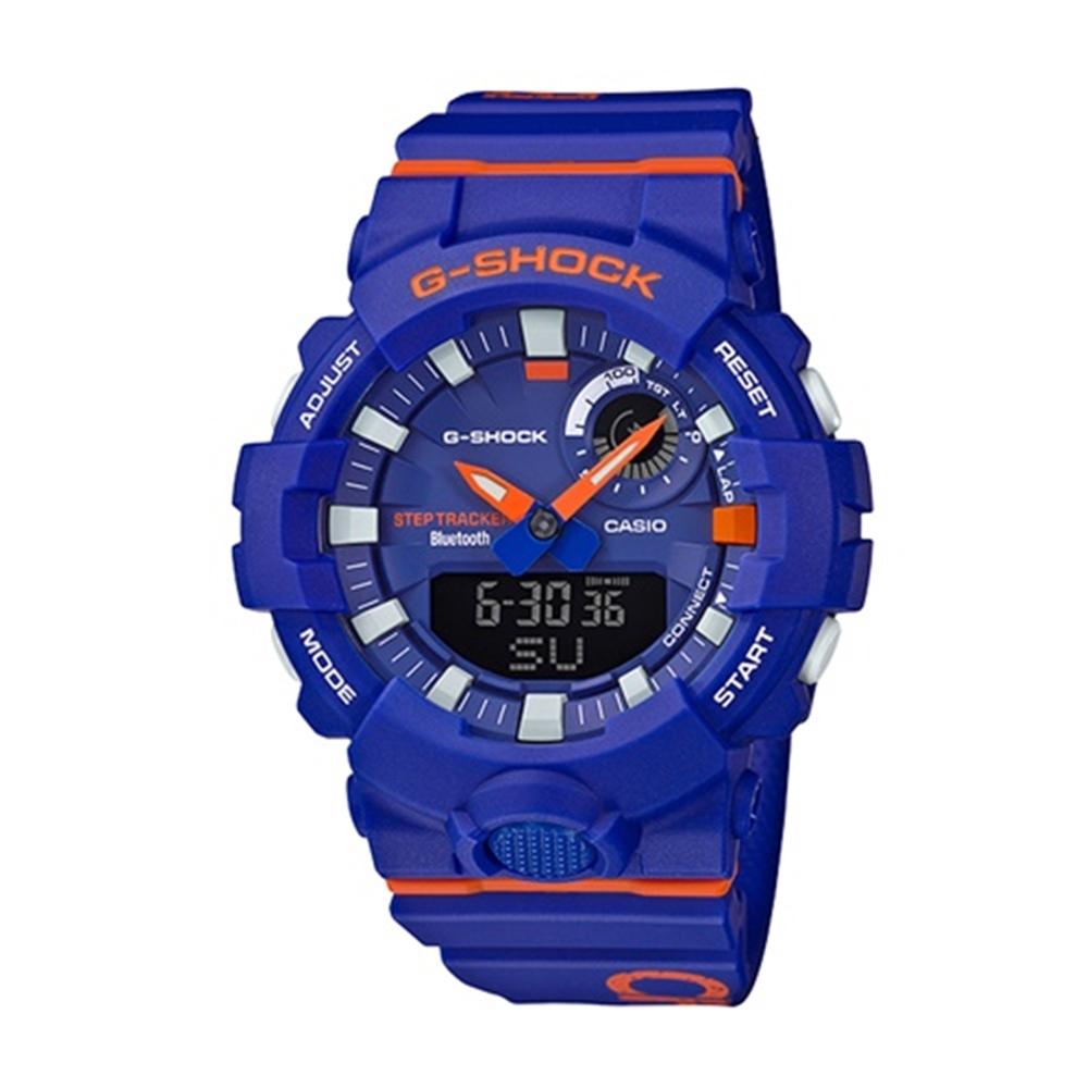 CASIO 卡西歐 G-Shock 城市時尚雙顯電子錶-藍/48.6mm
