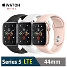Apple Watch S5 44mm 鋁金屬錶殼搭運動型錶帶(LTE版)