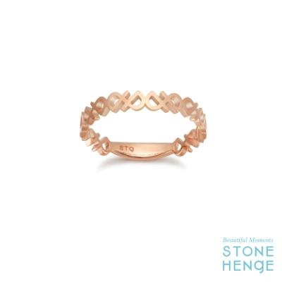 STONEHENGE 斯通亨奇 14K玫瑰金字母造型戒指