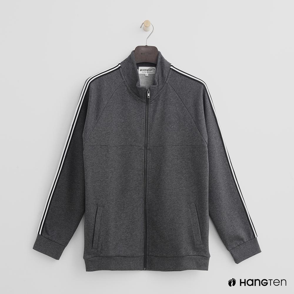 Hang Ten - 男裝 - 滾邊運動風外套 - 灰