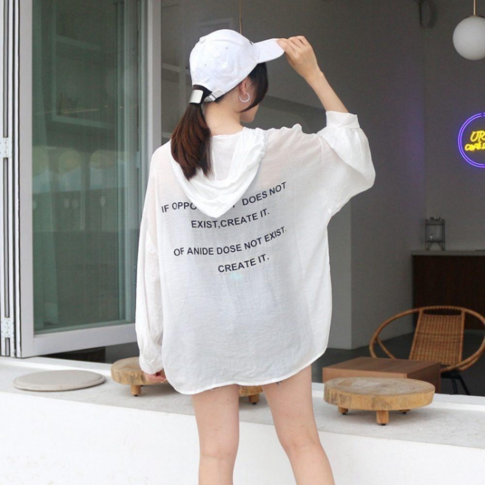 韓國街頭風休閒連帽寬鬆上衣(共三色)-Dorri