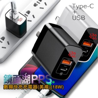 Baseus 倍思 鏡面顯示 Typec+USB PPS 數顯快充充電器