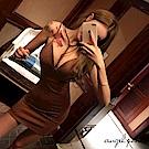 深V美脖閃亮吊帶包臀洋裝緊身連衣裙(咖啡色M)-天使波堤