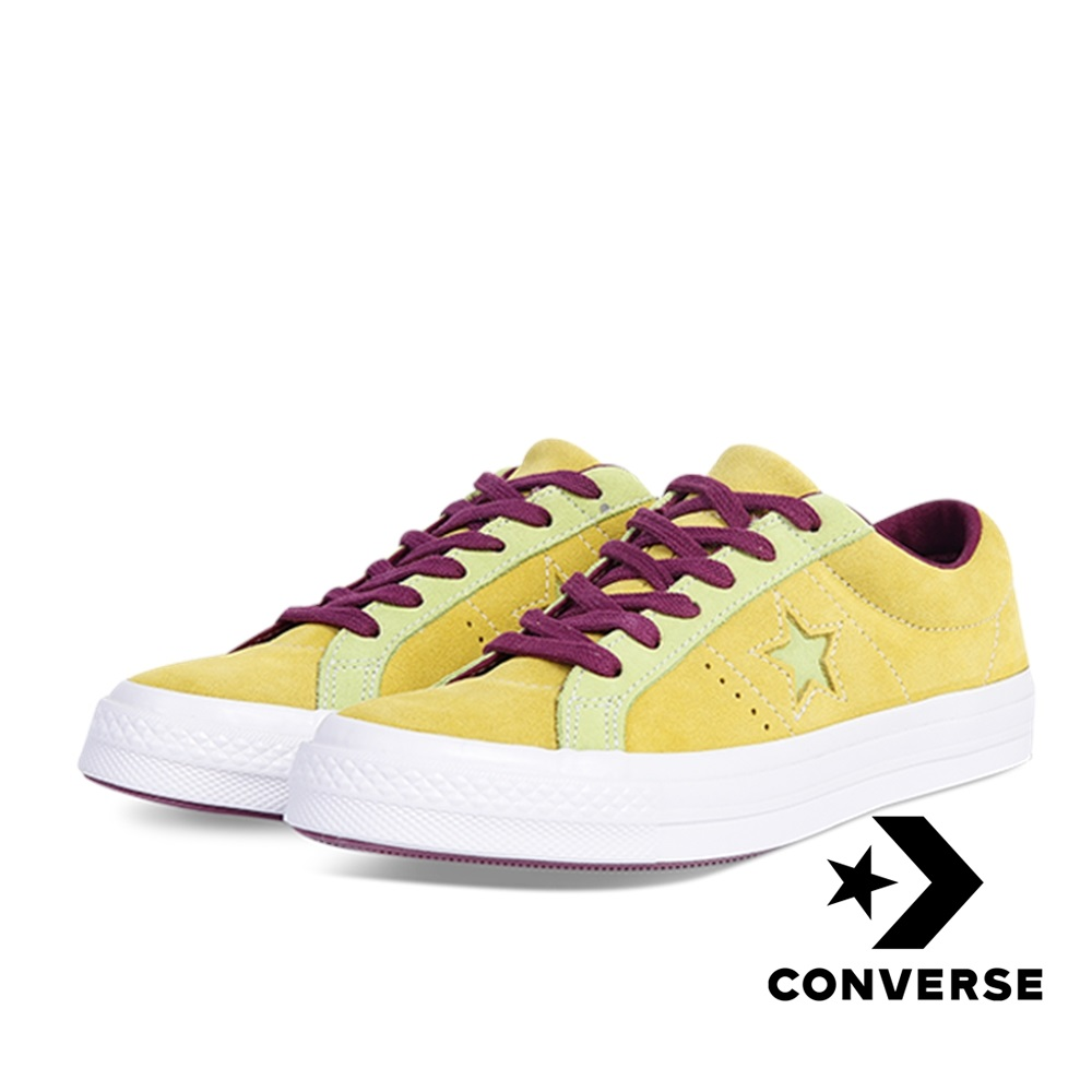 CONVERSE-ONE STAR OX休閒鞋-黃