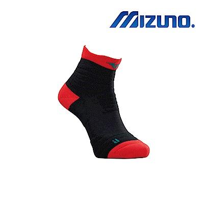 MIZUNO 男運動厚底短襪 5入 黑X紅 32TX920396