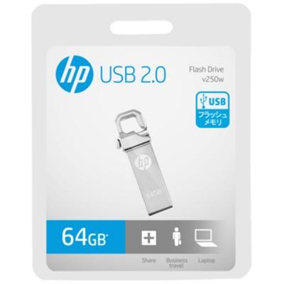 HP 惠普64GB USB2.0掛勾金屬隨身碟 v250w