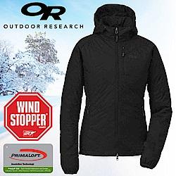 Outdoor Research 女 頂級超輕高抗水連帽保暖科技羽絨外套_黑