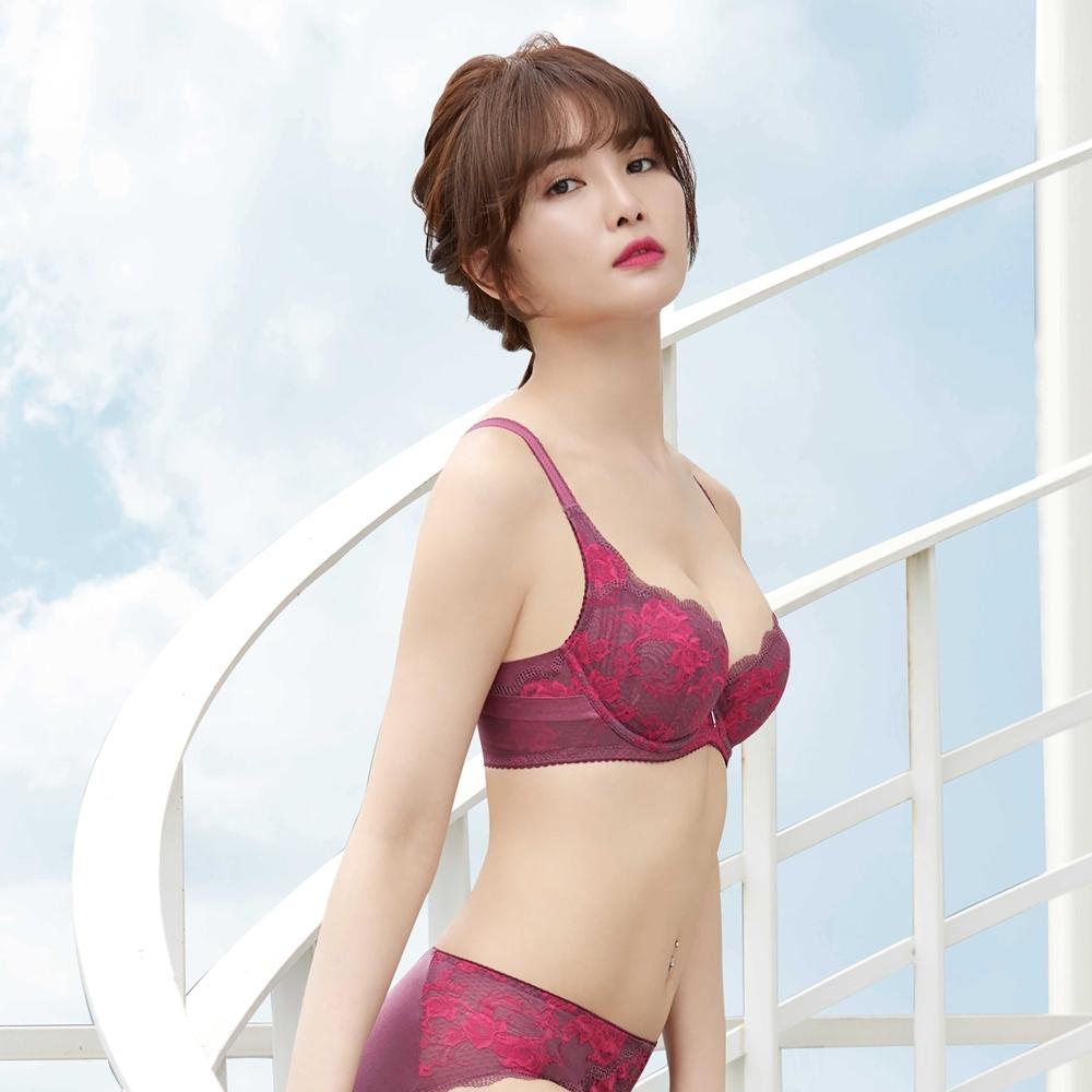 曼黛瑪璉 雙弧內衣D-G罩杯 (瑰紅紫)
