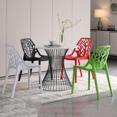 MUNA 凱西2.7尺圓桌/休閒桌(1桌4椅) 80X80X72cm