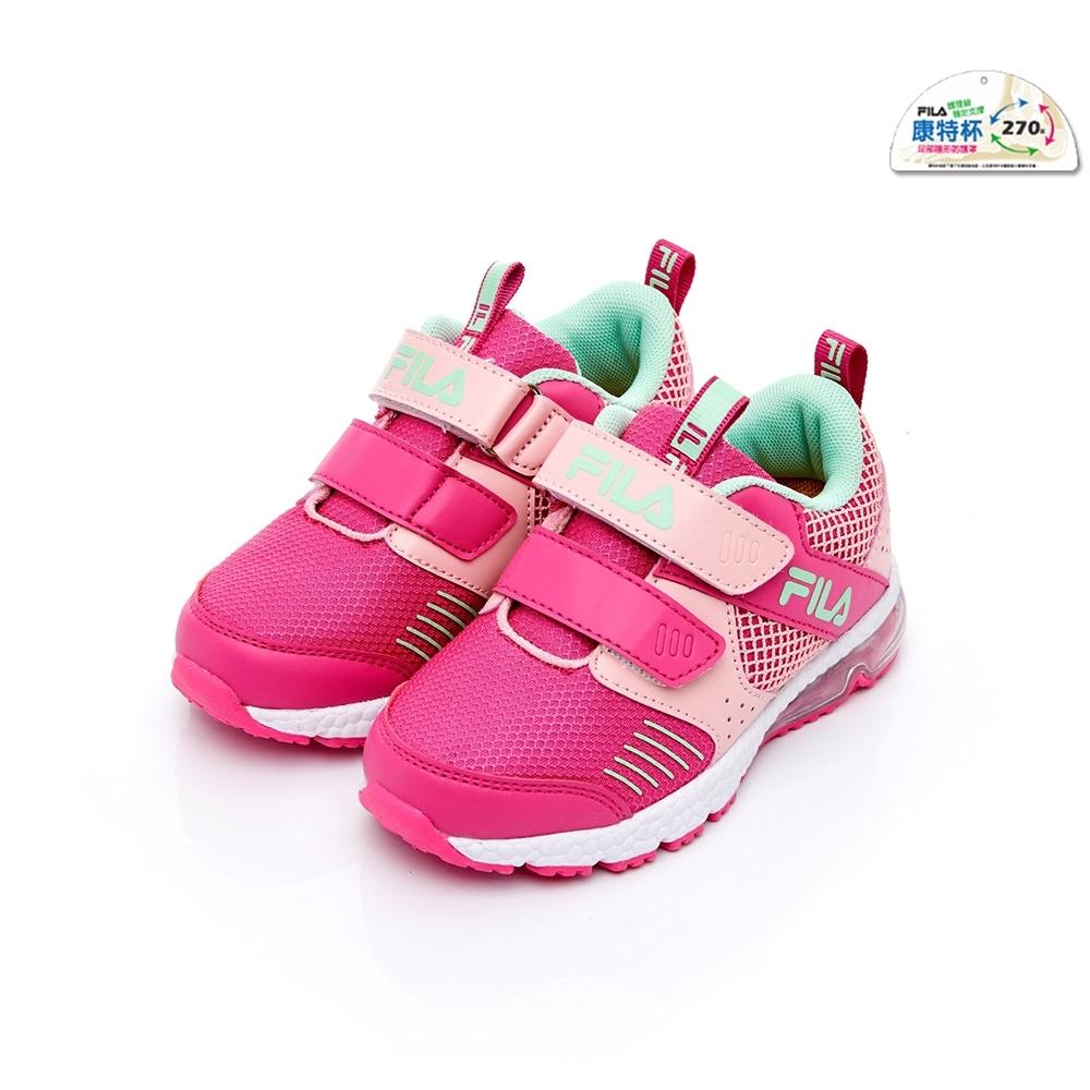 FILA KIDS 中童氣墊MD慢跑鞋-桃粉 2-J422U-254