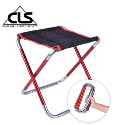 韓國CLS 加大款7075鋁合金特殊收納繽紛折疊椅 行軍椅 板凳 登山 露營(兩色任選)