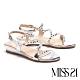 涼鞋 MISS 21 晶鑽裸透S流線設計楔型低跟涼鞋-裸透 product thumbnail 1