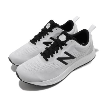 New Balance 慢跑鞋 Fresh Foam 2E 寬楦 男鞋 紐巴倫 輕量透氣 舒適避震 路跑 健身 白 黑 MARISRW32E