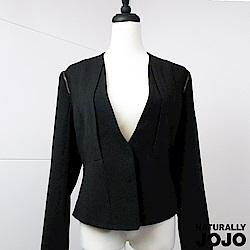 【NATURALLY JOJO】鍊飾設計西裝外套(黑)