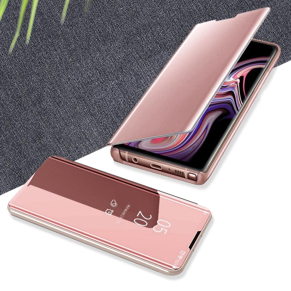 三星 Note10 pro 輕巧 鏡面透光 翻蓋 立架手機殼