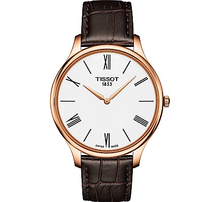 TISSOT T-TRADITION超薄紳士石英錶(T0634093601800)40mm