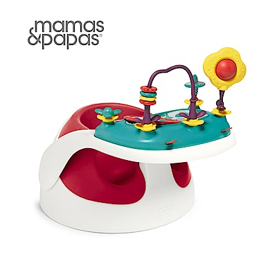 【Mamas & Papas】二合一育成椅v2-小丑紅(附玩樂盤)