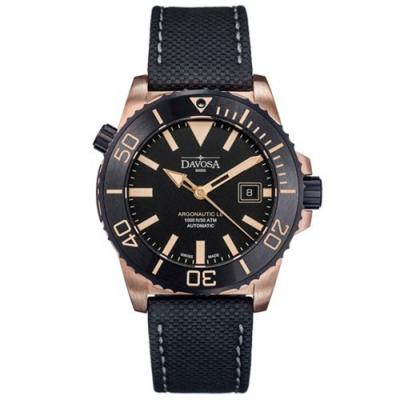 DAVOSA Argonautic Bronze青銅300M潛水限量錶(黑/藍)