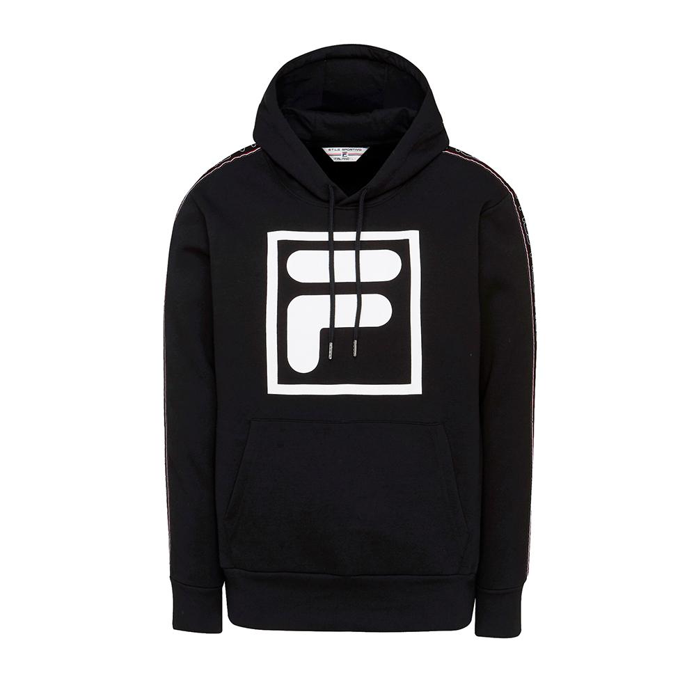 FILA #東京企劃-原宿篇 長袖連帽T恤-黑 1TES-5442-BK