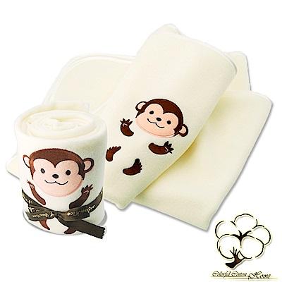 采棉居寢飾文化館 猴子造型毯