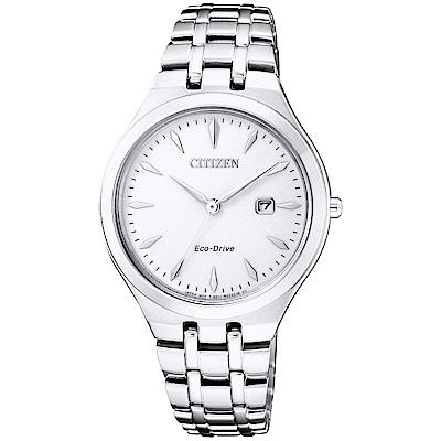 CITIZEN 星辰光動能優雅時尚手錶(EW2490-80B)-銀/32mm