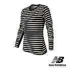 New Balance 彈性條紋長袖上衣 WT83120BKW 女 黑