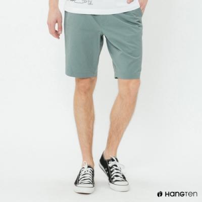 Hang Ten - 男裝 - 簡約綁帶棉質休閒短褲-綠