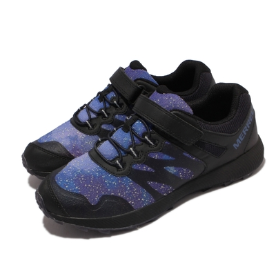 Merrell 戶外鞋 Nova 2 Gid Night Sky 童鞋 女鞋 魔鬼氈 耐磨 抓地 中大童 黑 紫 MK265346