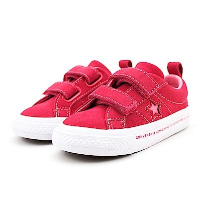 Converse 中大童休閒鞋-660038C 紅