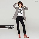 H:CONNECT 韓國品牌 女裝-率性不收邊牛仔褲-黑