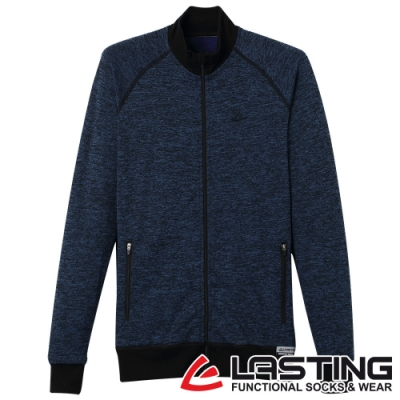 【LASTING捷克】女款羊毛抑菌除臭透氣保暖外套LT-WALY麻花藍