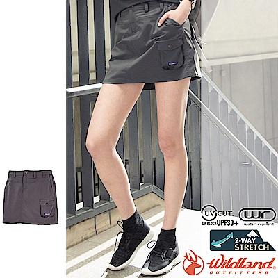 Wildland 荒野 0A71361-101煙灰色 女彈性功能時尚短裙