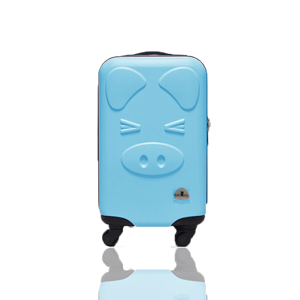 BEAR BOX 三隻小豬之豬事如意系列20吋/輕硬殼行李箱-粉藍