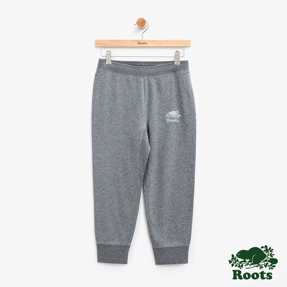 ROOTS 女裝 -  BREATHE七分毛圈布休閒棉褲-灰色