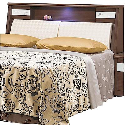 綠活居 羅利略6尺皮革木紋雙人加大床頭箱(二色可選)-180x30x108cm-免組