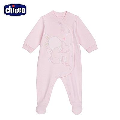 chicco-粉彩系列-前側開兔裝-粉(3-12個月)