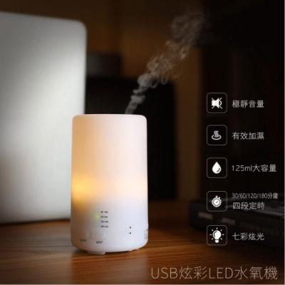 日系水氧機 薰香機 空氣加濕機 小夜燈 加濕器 (七彩炫光)