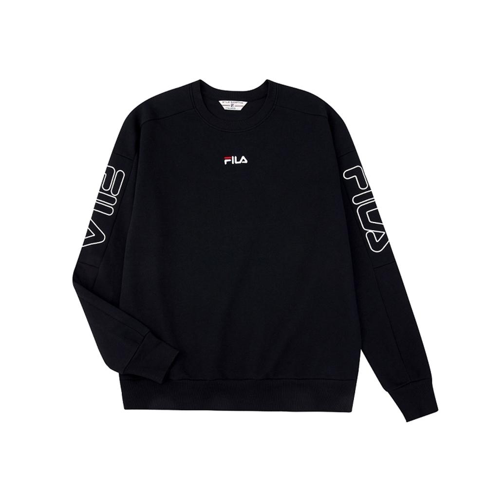 FILA #架勢新潮 長袖圓領T恤-黑色 1TEV-1400-BK