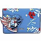 FURLA Afrodite 愛心蜂鳥造型萬用零袋/卡片夾(蔚藍色)