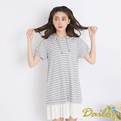 Dailo INLook 運動棉質拼接小洋裝