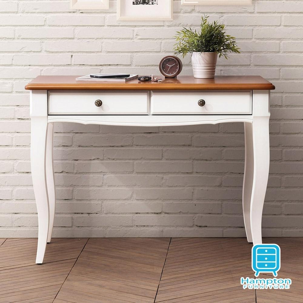 漢妮Hampton莉迪亞系列3.3尺雙色玄關桌-100*41*76 cm