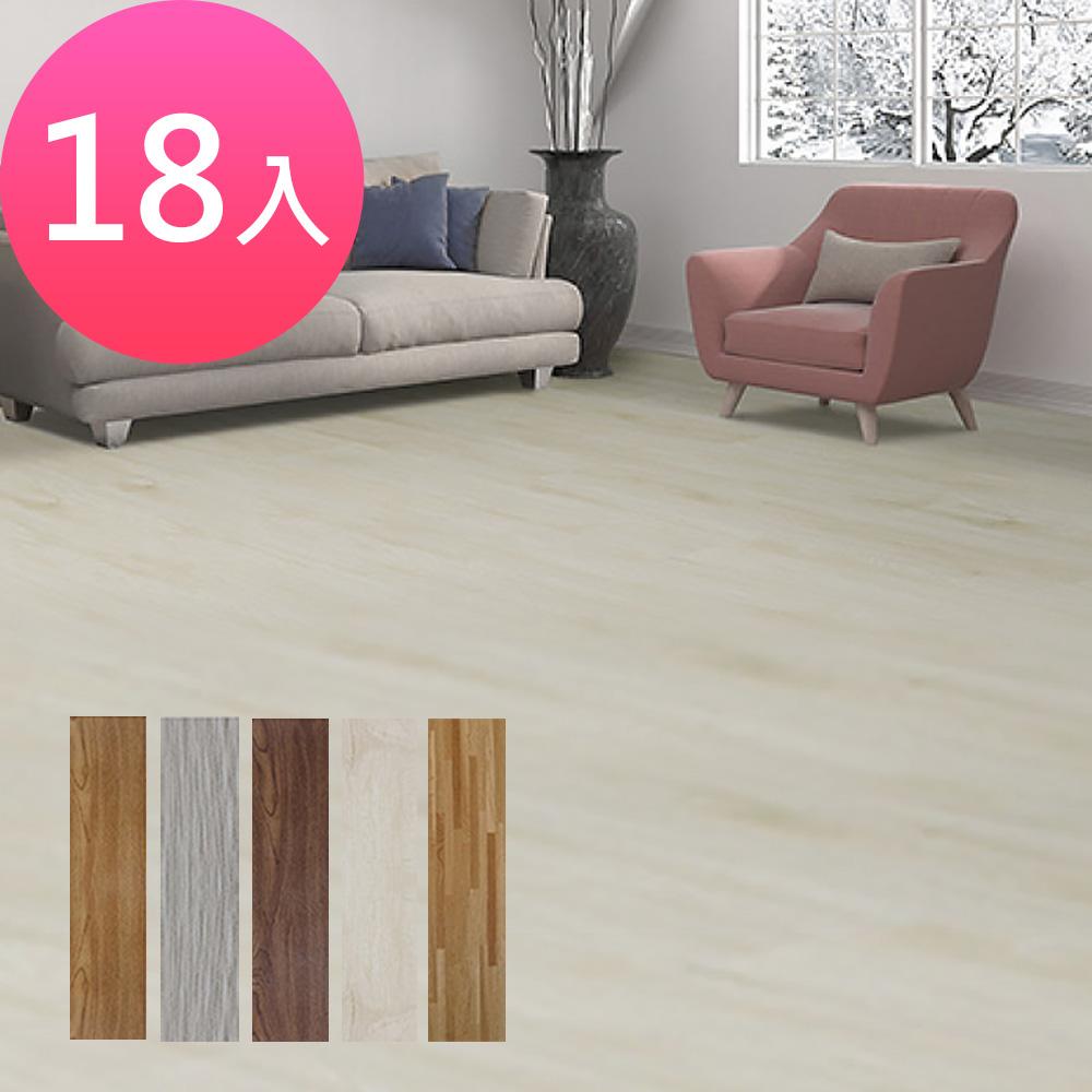 【Effect】日系簡約風DIY防刮耐磨仿木地板(18片/0.75坪) product image 1