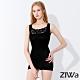 ZIWA 180D蕾絲織紋微塑纖體衣(黑色) product thumbnail 1